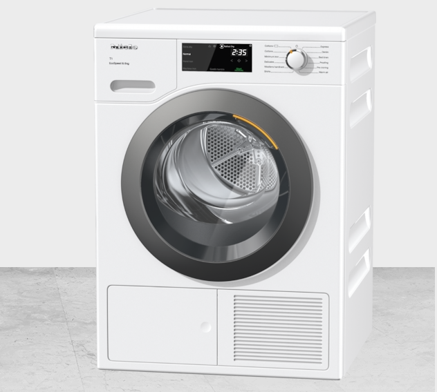 Miele TCF640WP 8kg T1 Heat-Pump Tumble Dryer with EcoSpeed - White