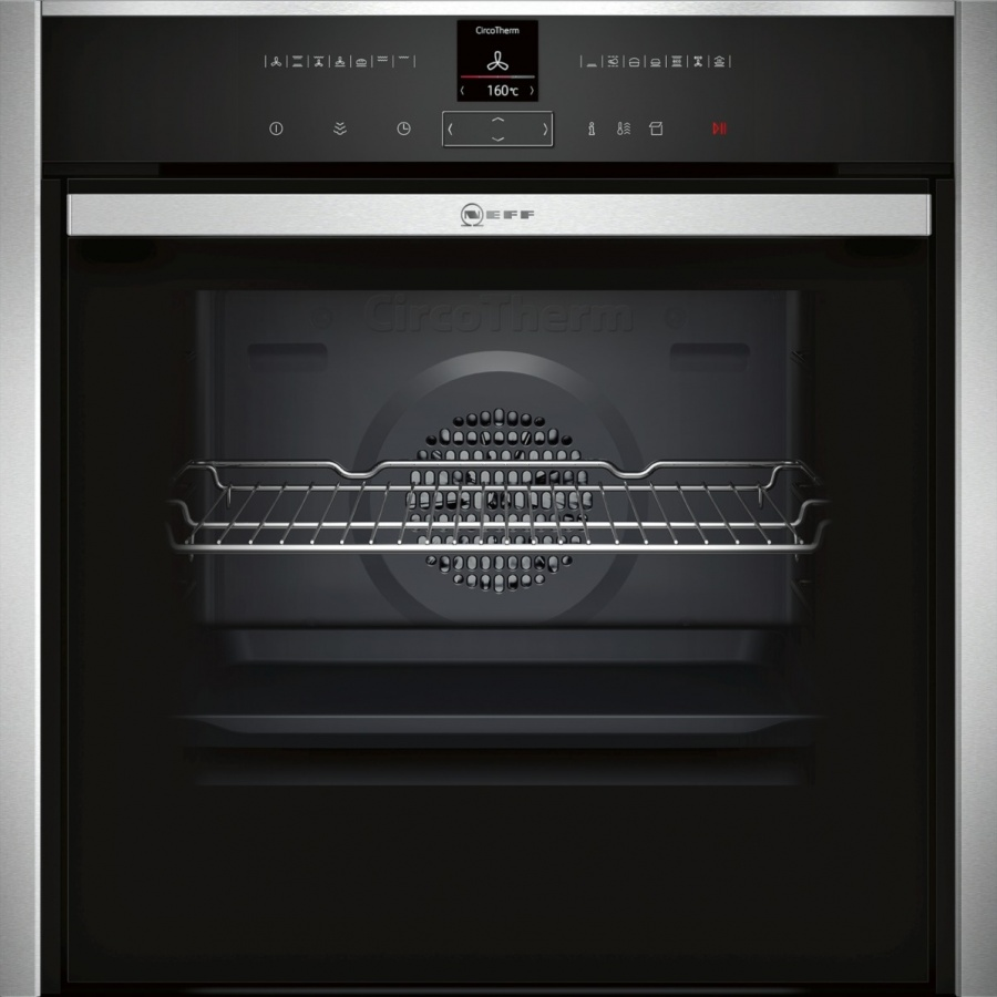 Neff B57VR22N0B Built-in Oven with added Steam Function-Stainless Steel