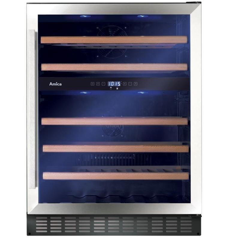 Amica AWC601SS Freestanding Wine Cooler-Stainless Steel