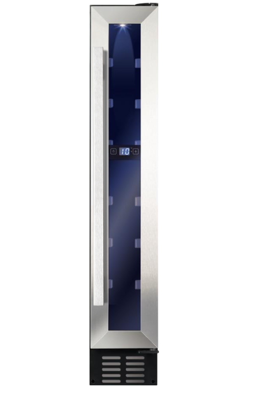 Amica AWC151SS Freestanding/ Under Counter Slimline Wine Cooler-Stainless Steel