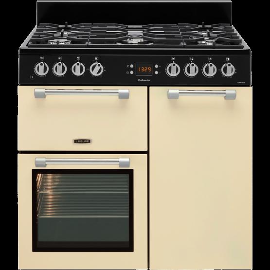 LEISURE CK90F232C 90cm Cookmaster Dual Fuel Range Cooker-Cream
