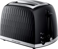 Russell Hobbs 26061 Honeycomb 2 Slice Toaster - Black