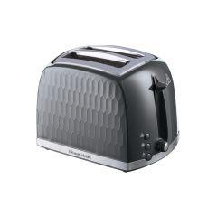 Russell Hobbs 26063 Honeycomb 2 Slice Toaster - Grey