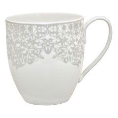 Denby 359010612 Monsoon Filigree Large Mug - Silver
