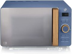 Swan SM22036BLUN 800W Nordic Microwave - Blue