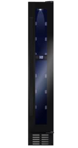 Amica AWC151BL Freestanding/Under Counter Slimline Wine Cooler-Black