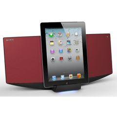 Sony CMTV75BTIPR Audio System with Dock for iPhone, iPod & iPad - Red