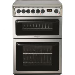 Hotpoint HAE60X 60cm Double Oven Electric Cooker - Stainless Steel