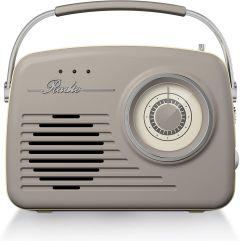 Akai A60014VT Am/Fm Vintage Retro Radio-Taupe