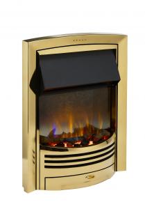 Dimplex GLN20BR Glencoe Brass Optiflame 3D Electric Inset Fire