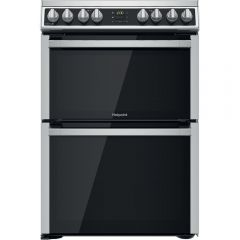 Hotpoint HDM67V8D2CXUK 60cm Electric Double Cooker With 2 Full Fan Ovens - Inox
