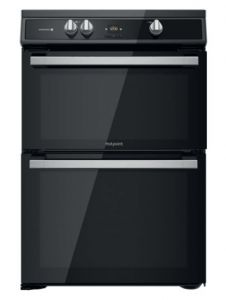Hotpoint HDT67I9HM2CUK 60cm Electric Double Cooker With Induction Hob - Black