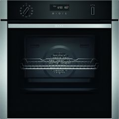 Neff B5ACH7AH0B Slide&Hide Single Pyrolytic Oven-Black/Stainless Steel