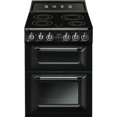 Smeg TR62IBL 60cm Victoria Range Cooker With Induction Hob-Black