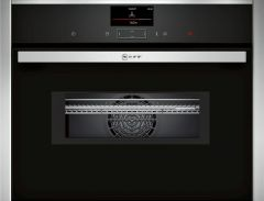 Neff C17MS32H0B 45cm Built-in Compact Oven with Microwave Function Stainless Steel
