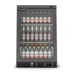 Mistral F77/150/B Freestanding M60 Bottle Cooler RHH Glass Door - Black