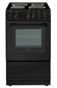 New World NW50ES/BLK 50cm Electric Cooker with Single Oven-Black