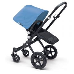 Bugaboo 232156BM01 Cameleon³+ Black Stroller Blue Melange