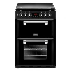 Stoves Richmond R600DFBK 60cm Dual Fuel Double Freestanding Cooker-Black