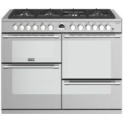 Stoves Sterling Deluxe STRDXS1100DFSS 110cm Dual Fuel Range Cooker - Stainless Steel