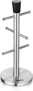 Tower T80101 6 Cup Mug Tree - Stainless Steel