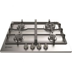 Indesit THP641WIXI 60cm Cast Iron Gas Hob - Stainless Steel