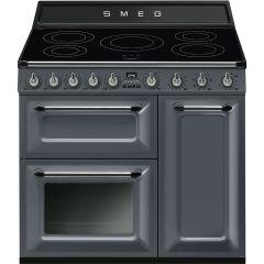 Smeg TR93IGR 90Cm Victoria Electric Induction Cooker - Slate Grey