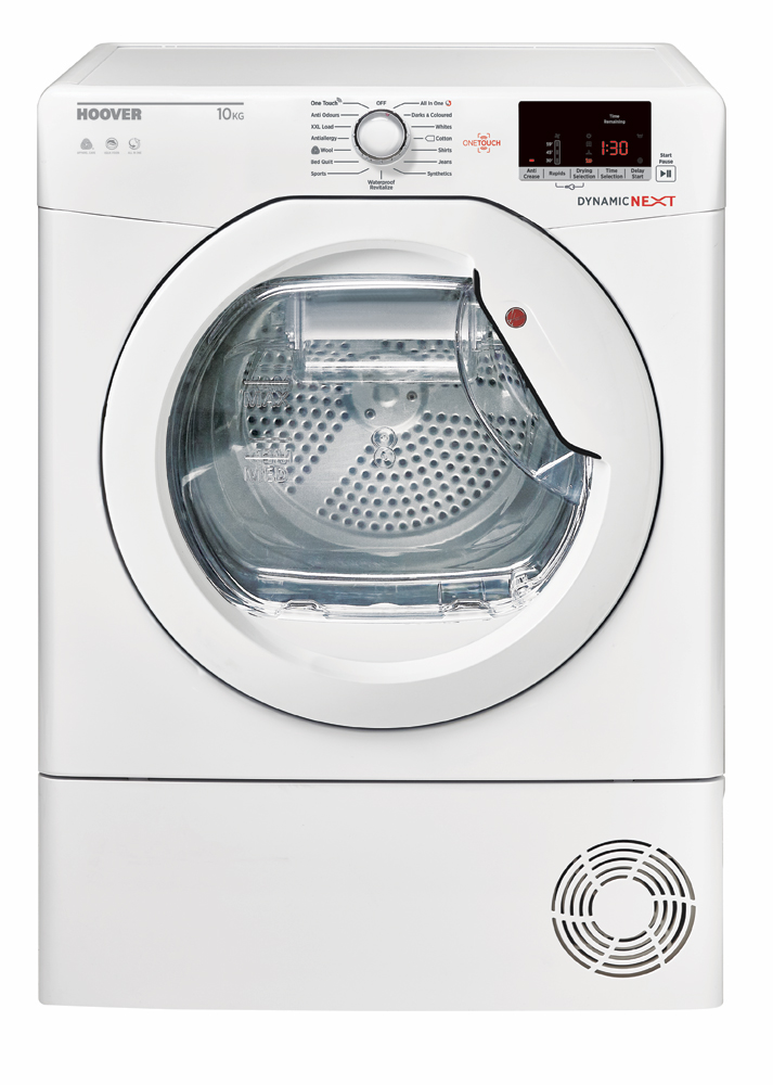 Hoover DXC10DE Freestanding 10kg Condenser Tumble Dryer - White