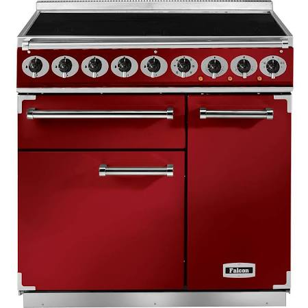 Falcon Deluxe 900 F900DXEIRD/N-EU Induction Cherry Red/Nickel Range Cooker