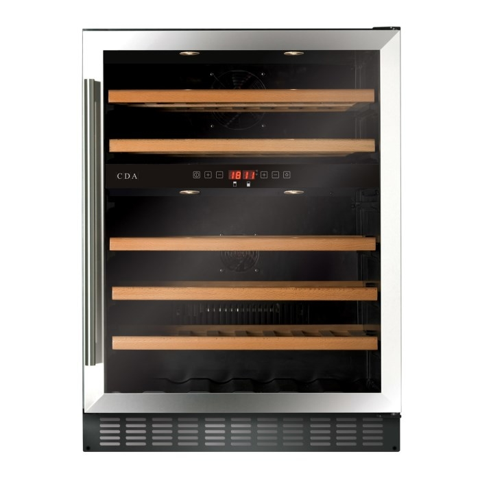 CDA FWC604SS 60cm Dual Zone Freestanding Under Counter Wine Cooler Stainless Steel