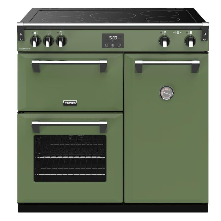 Stoves RCHDXS900EISGR 90cm Richmond Deluxe Electric Induction Range Cooker-Soho Green