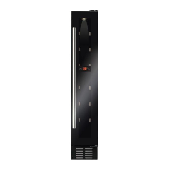 CDA FWC153BL 15cm Freestanding Under Counter Slimline Wine Cooler