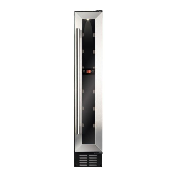 CDA FWC153SS 15cm Freestanding Under Counter Slimline Wine Cooler Stainless Steel